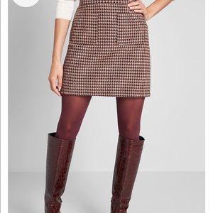 ModCloth houndstooth mini skirt - medium